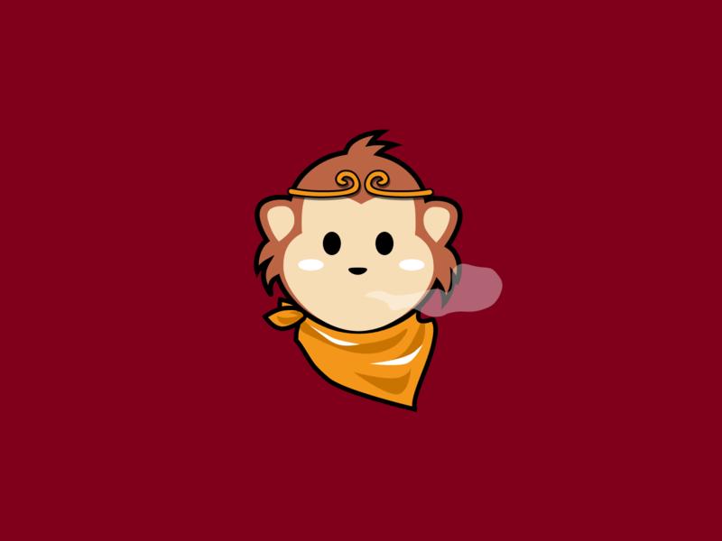 Monkey King illustration asian legend legend monkey king monkey flat vector inktober2019 inktober