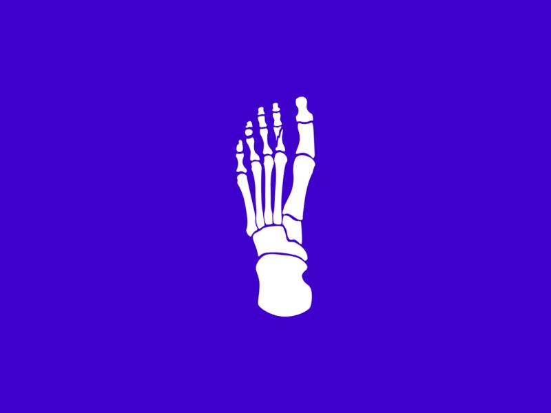 Injury injury broken bone foot bones bone design flat inktober2019 inktober