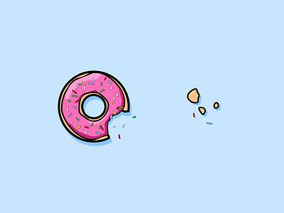 Donuts food sprinkles donut donuts flat design inktober2019 inktober