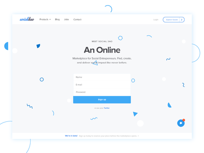 Sign Up Daily UI - 001