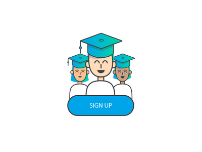 Daily UI 001 Sign Up Illustration