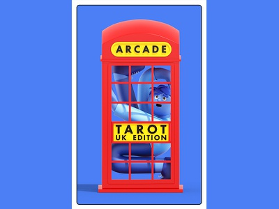 London Tarot Card - Cover branding editorial design animation c4d cinema4d illustration character 3d