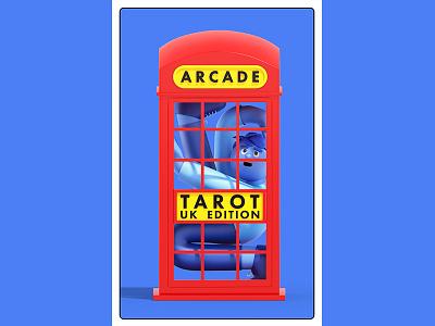 London Tarot Card - Cover branding editorial design animation c4d cinema4d illustration character 3d