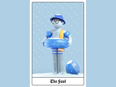 London Tarot Card - The Fool branding design editorial animation c4d cinema4d illustration character 3d