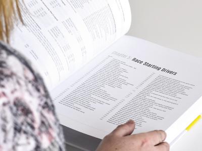F1 Hardback Data Book Internal hardback publication book design onef1 typographyprintformula