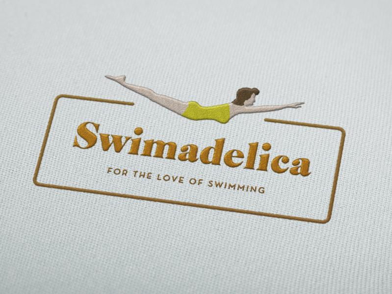 Swimadelica Branding vintage artdeco swimming swimmer illustration brand typography freelance branding logo design