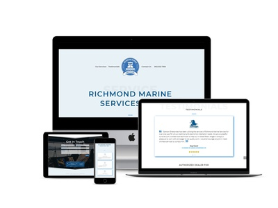Web design for Marine Electrician design