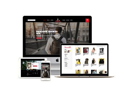 Web Design for Woocommerce store branding design