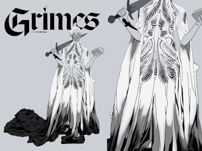 Grimes | MET Gala 2021 celebrities met gala 2021 met gala grimes typography illustration design