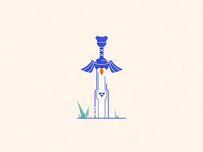 Master Sword design vector illustration breath of the wild legend of zelda icon link zelda sword