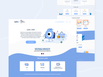 Lalilo's Ressources Page landing page design interface learning child ux design students education school header illustration header footer lalilo ui design landing page