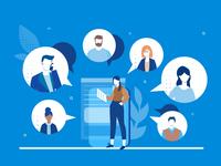 Business Team illustrations