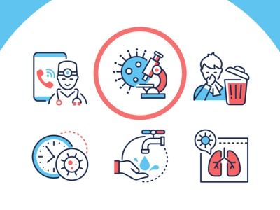 Coronavirus Disease Innovicons prevention healthcare disease symptom pandemic coronavirus line icon vector style design