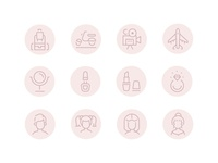 Instagram Highlight Icons collection media social instagram highlight icon line style design