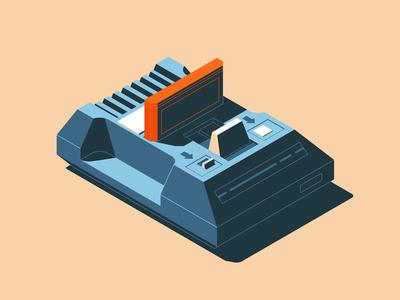 Dendy game console - illustration funart videogame game console dendy gamepad gaming flat design style design illustration