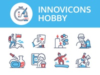 Hobby - innovicons series sport handcraft leisure hobby collection line style design icon vector