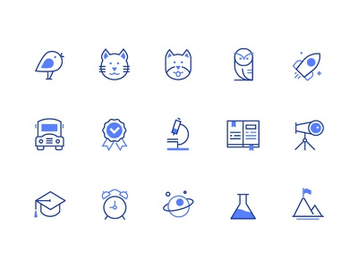 Line icons education outline linear icons vector collection line icon business style design