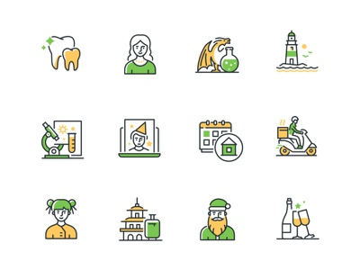 Highlight icons outline icons outline business collection line icon vector style design