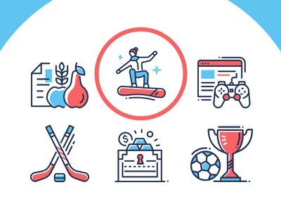 Sport Innocivons series training lifestyle active sportive exercise fitness sport set collection line icon vector style design