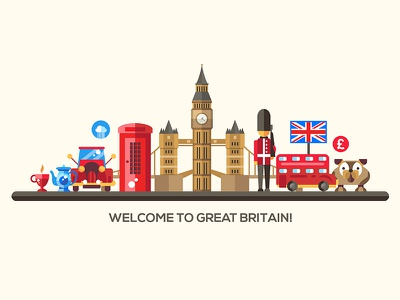 Countries collection vacation symbol place famous china great britain country landmarks traveling flat design vector style design illustration