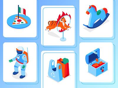 Big Bundle of Isometric Icons icon set collection ecology christmas business education isometric icons isometry icon vector style design