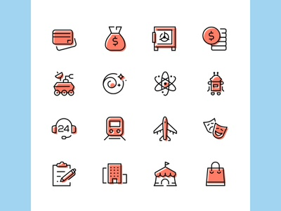 Icostory color line icons collection icon design business icon line vector style
