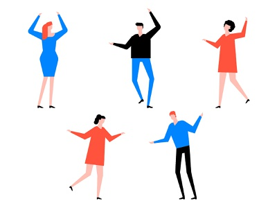 International Dance Day celebration party people character design dancing vector style design illustration