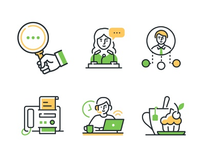 Highlight Icons modern business prehistoric collection outline linear line icon vector style design
