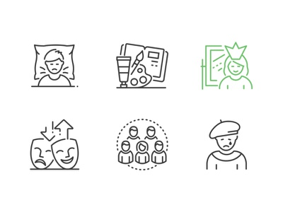 Black & White Innovicons update outline linear line icon vector style design