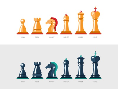 Chess Pieces sports checkmate game king queen bishop knight rook pawn pieces chess icon