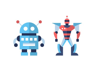 Robots - flat design icons set transformer futuristic flat design icon toy hi-tech technology robotics robot