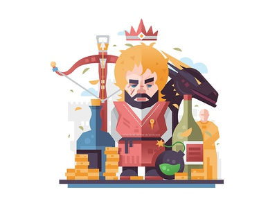 Tyrion imp yollo hugor hill gold money wine dragon gnome dwarf halfman lannister tyrion magic king castle game of thrones