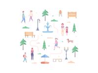 City park elements