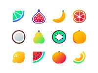 Fruits - flat icons