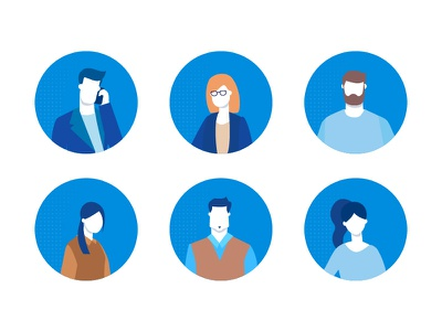 Dribbble 01 35 business avatar teamwork character vector style design flat illustration