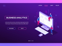 Business analytics - web banner