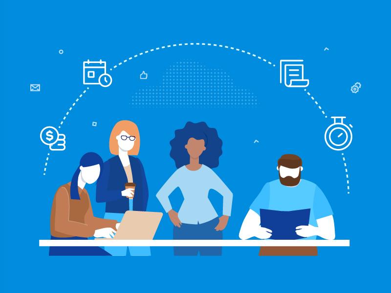 Workflow - flat illustration brainstorm international creative teamwork character business style flat design illustration