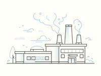 Factory in line design style