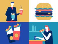 Street food - flat illustration
