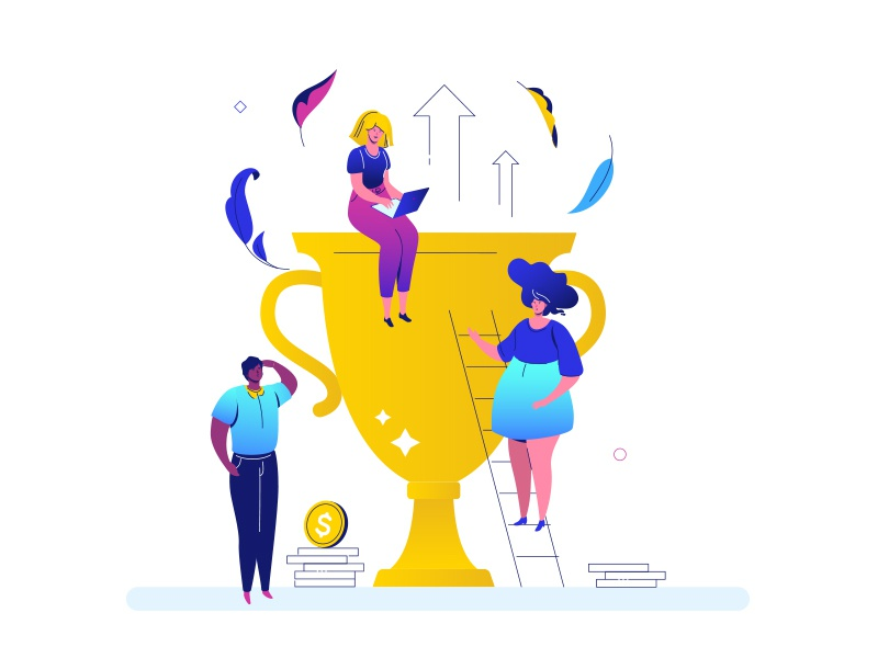 Business success - flat illustration by Boyko on Dribbble