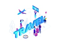Travel - isometric illustration