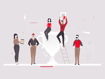 Business success - flat illustration