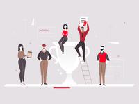 Business success - flat illustration