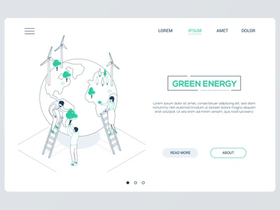 Green energy web banner