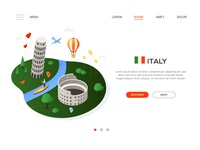 Italy - isometric web banner