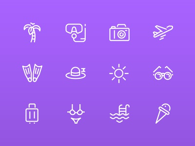 Line design icons collection