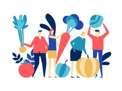 Organic food - flat illustration