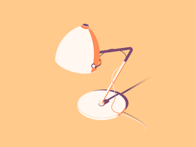 Desk lamp - flat illustration