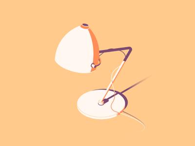 Desk lamp - flat illustration light reading table desk lamp design vector flat design illustration