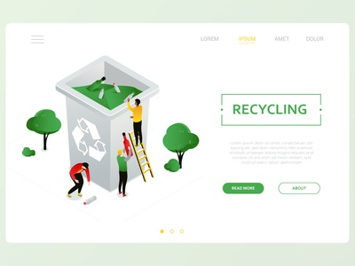 Recycling isometric illustration